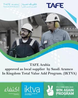 TAFE Arabia- Approved Saudi Aramco In-Kingdom Total Value Add (IKTVA)